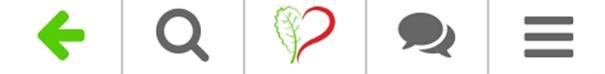 KaleDate Vegan Dating besitzt zwei Navigationsleisten. Die obere wirkt dank der drei wichtigen Punkte sehr aufgeräumt.